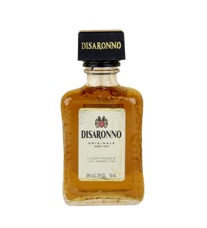 spencer: Spencer, Wisconsin, January,12,2016,  Bottle of Disaronno Liqueur  Disaronno is made in Italy and has roots back to 1525