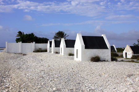 Slave huts built in 1850 for the slaves on the island of Bonaire