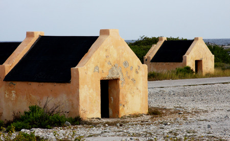 Ruins of Slave Huts on the island of Bonaire