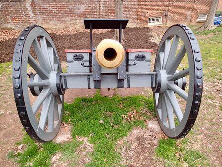 Cicil war cannon restored and on display