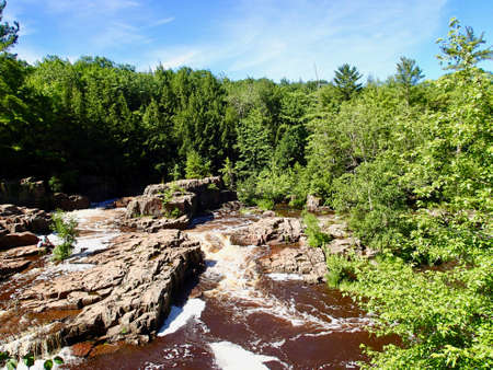 Dells of Eau Claire section of the Ice Age Trail Banque d'images