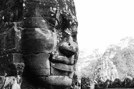 angkor wat: Angkor Thom  Temple of Bayon Stock Photo
