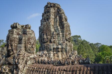 angkor thom: Angkor Thom  Temple of Bayon Stock Photo