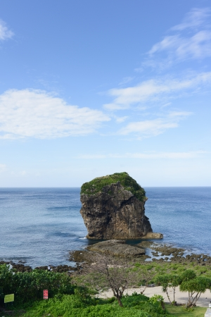 kenting: Sail rock in the kenting national park taiwan