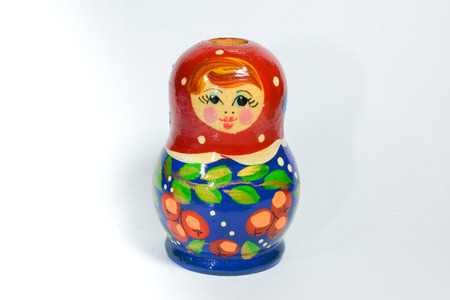 woodcarving: Color woodcarving doll
