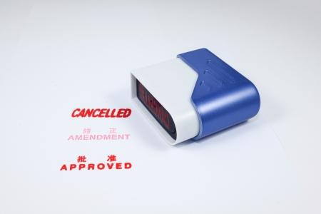 amendment: CANCELADO, ENMIENDA, camino de recortes aprobado sello de goma en el sello de goma