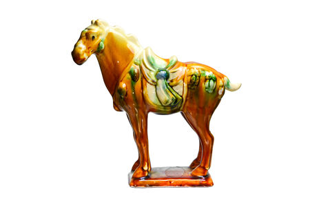 tricolour: Tri-colour Tang Pottery horse by ancient china