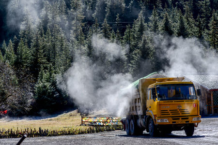 Big truck on the prairie