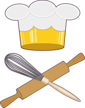 Chef King of cuisine Vector