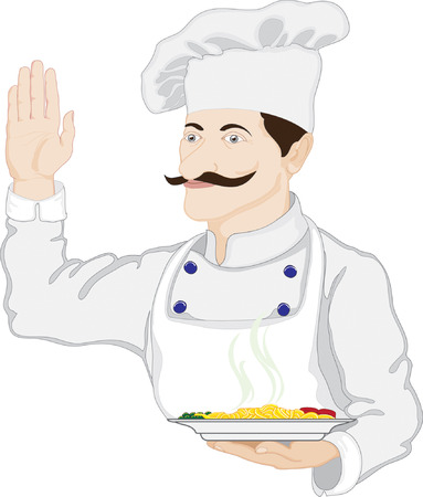 Chef welcomes guests