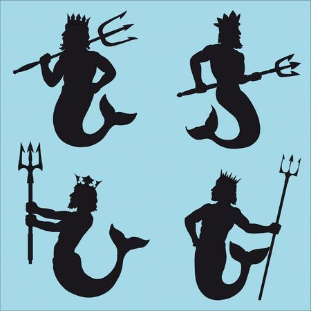 Neptune Silhouettes Ilustração