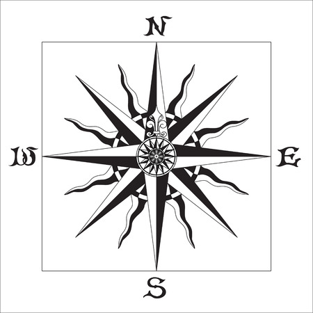 Wind Rose old Stock Vector - 6668155