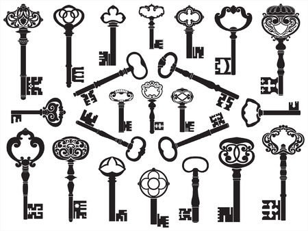 skeleton: Collection of antique keys