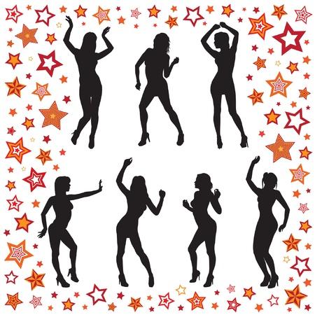 Dancing women Stock Vector - 12356568