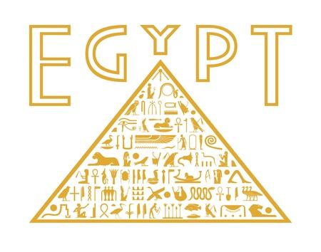 Pirámide de los jeroglíficos Ilustración de vector