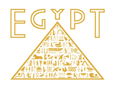 egyptian: Pyramid of the hieroglyphs