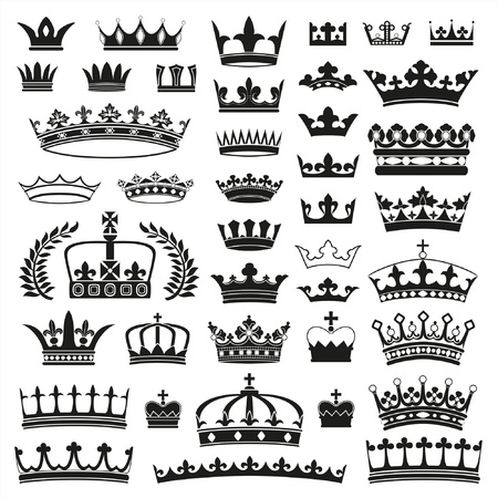 CROWNS collection Stock Illustratie