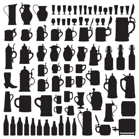 Beerware silhouettes Stock Vector - 17224580