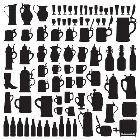 jarra de cerveza: Beerware siluetas
