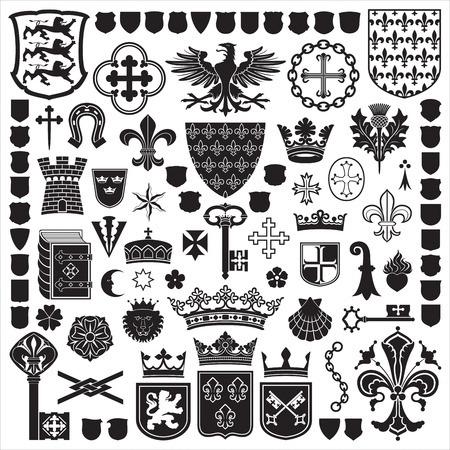 crests: HERALDIC Symbols and decorations