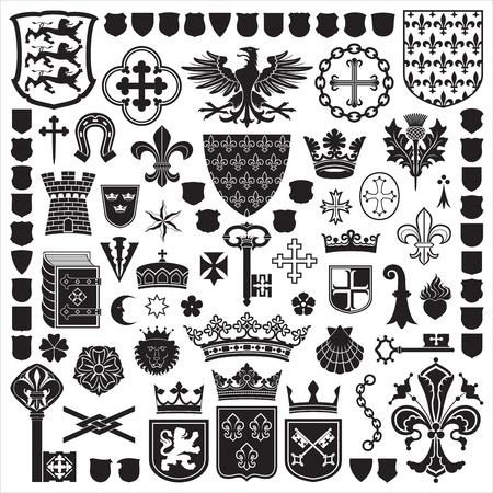 Heraldische Symbole und Verzierungen