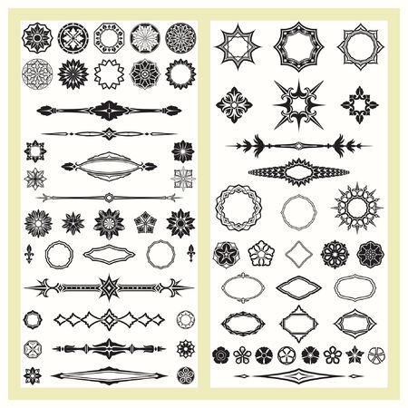 Ornaments and decorative elements Illustration
