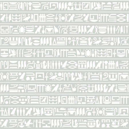 Ancient Egyptian hieroglyphic decorative background horizontal