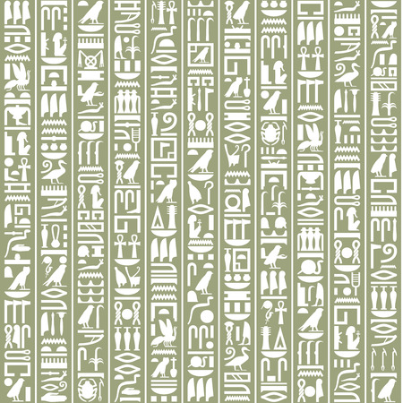 古代エジプト象形文字の装飾的な背景  イラスト・ベクター素材