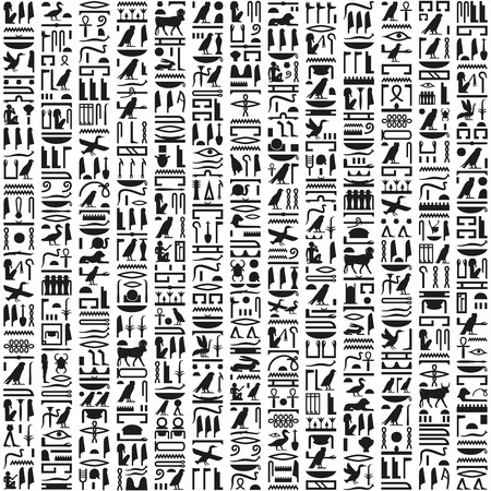 ancient papyrus: Ancient Egyptian hieroglyphic writing