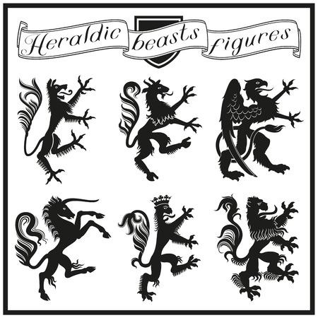 Heraldische beesten cijfers Stockfoto - 48794687
