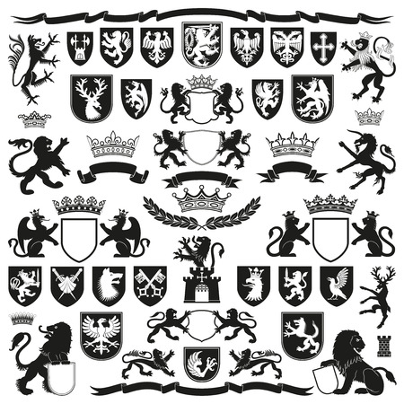 HERALDRY Symbols and Decorative Elements