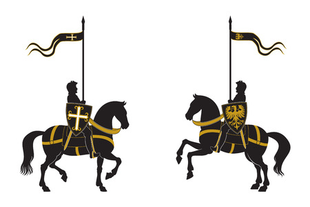 gallant: Silhouettes of two knights