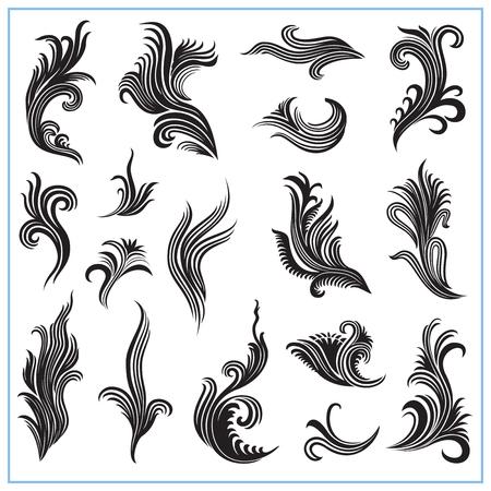 algas marinas: plantas decorativas abstractas