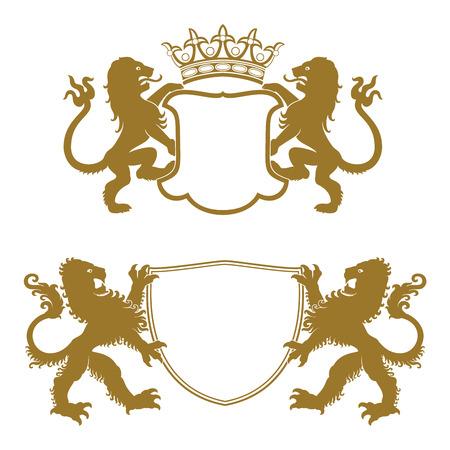 Heraldic Crests Silhouettes