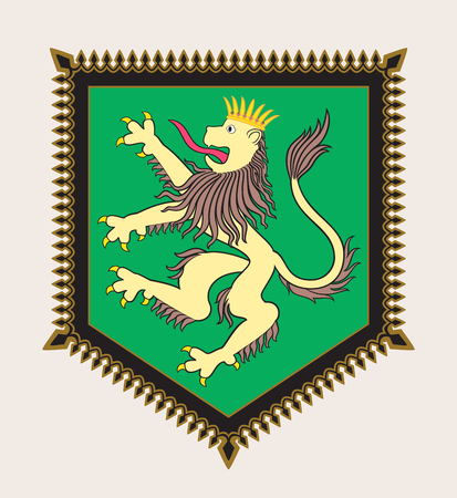 armorial: Heraldic lion crest