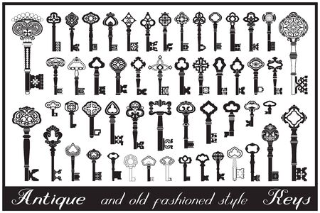 Antique and old fashioned style keys.