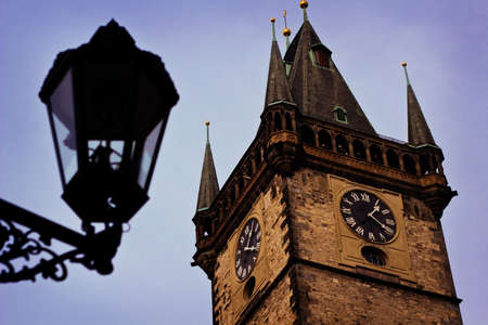 astronomic: Astronomic tower in old town of Prague