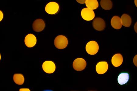 Photo of bokeh lights on black