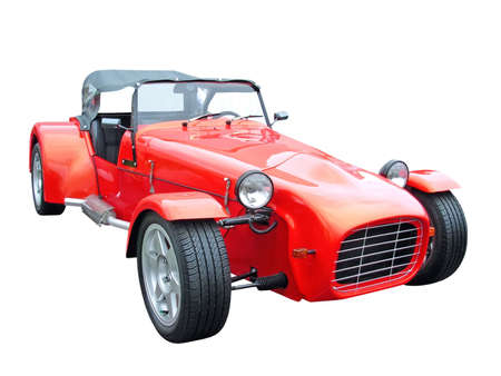 Red sports cabriolet