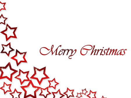 dropping: Elegant Christmas background with dropping red stars Stock Photo
