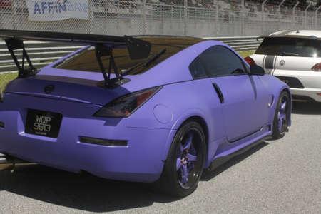 nissan: mad matte purple Nissan 350
