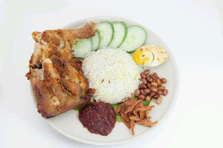 lemak: Malaysian local nasi lemak