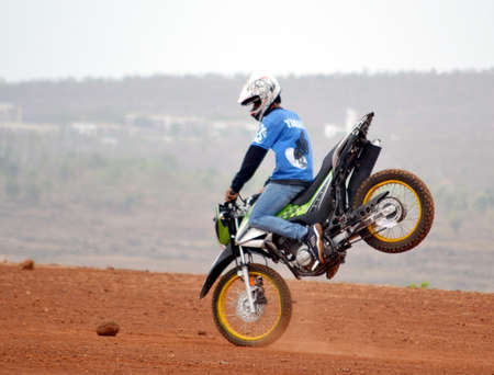 bhopal: The dirt track bike race organized in Bhopal on Sunday June 10, 2012