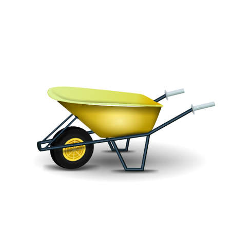 Garden wheelbarrow isolated on white background for your creativity Vector Illustratie