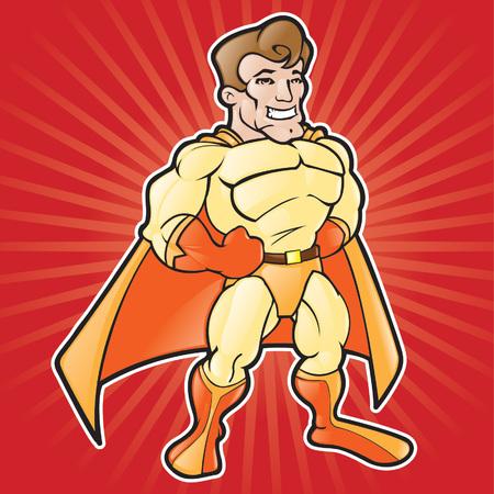Generic Cartoon Super Hero Stock Vector - 4987116