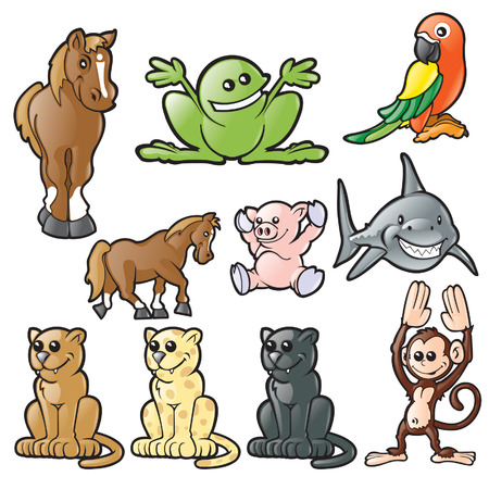 Various Animals Stock Vector - 6161700