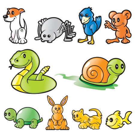Various Vector animals Stock Vector - 6161692