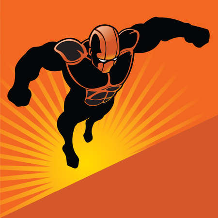 Generic Flying Superhero Vector