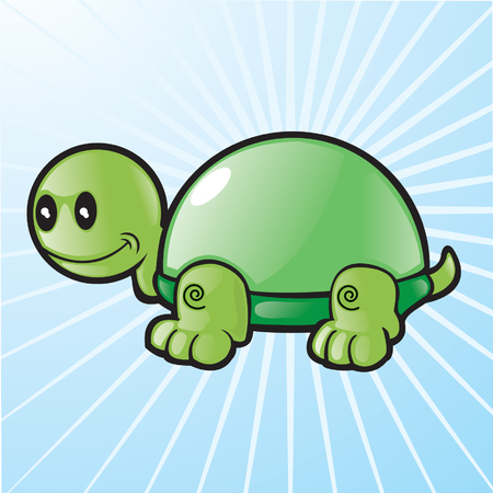 vector glass shell turtle Stock Vector - 6161655