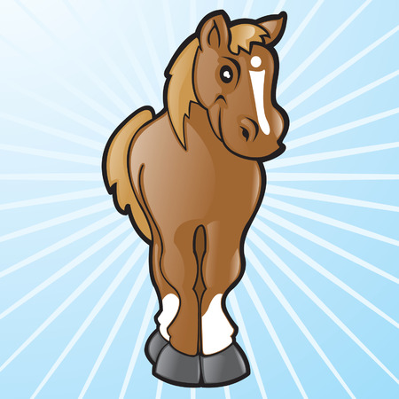 Vector Cartoon Horse Ilustrace